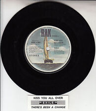 "EXILE  Kiss You All Over 7"" 45 rpm vinyl record + juke box title strip"