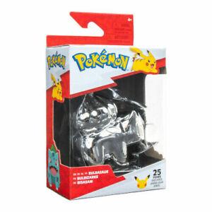 Pokemon - 25th Celebration - 3 Inch Silver Bulbasaur Figure