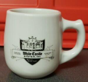 "Vintage White Castle Ashtray Bottom Mug Restaurant Ware 12 Oz Black Logo 4"""