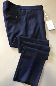 NWT $790 Salvatore Ferragamo Mens Dress Pants Dark Blue 40 US ( 56 Eu ) Italy