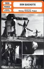 DON QUICHOTTE - Chaliapin Sr,Dorville,Pabst (Fiche Cinéma) 1933