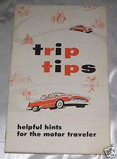 Vintage 1955 Trip Tips Motor Traveler Hints Illustrated Booklet