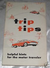 Vintage 1955 Trip Tips Motor Traveler Hints Illustrated Booklet FREE SHIP