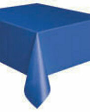 """PLASTIC TABLECOVERS TABLE COVER COVERS CLOTH CLOTHS    54"""" X 108""""   22 COLOURS"""