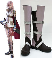 Final Fantasy lightning FF XIII 13 Cosplay Shoes Boots Schuhe Stiefel zapato neu