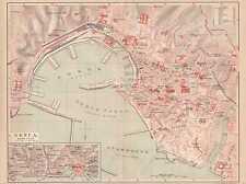 Genova Genova Porto Zena porto età mappa della città di 1889 Aqua sola