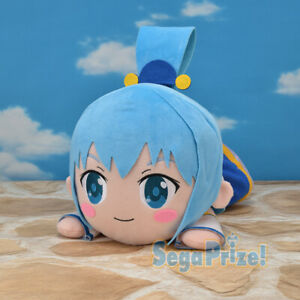 Konosuba Kuttari Nesoberi Anime Jumbo Plush Doll ~ Goddess of Water Aqua SG4120