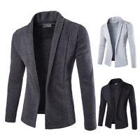 Men's Casual Leisure Slim Cotton Suit Blazer Coats Jackets Outwear Tops