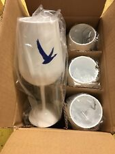 6 X Stunning Grey Goose Stemmed Acrylic Chalices / Cup - New -  Home Bar - Pub