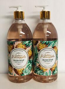 2 Bottles Golden Pineapple Hand Soap with Lemon Oil 24.5 fl oz Each