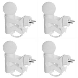 4 x Nachtlicht Steckdosen-Lampe Sensor LED Nacht-Licht Dämmerungssensor
