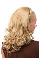 Halbperücke Haarteil geflochtener Haarreif lang glatt blond geschwungene Spitzen