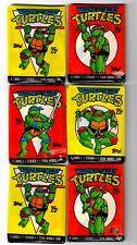 Lot of 6 Teenage Mutant Ninja Turtles 1989 Sealed New Wax Packs