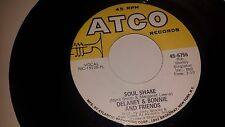"DELANEY & BONNIE Soul Shake / Free The People ATCO 6756 VINYL 45 7"" RECORD"