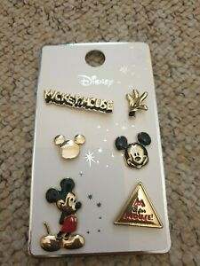 Official Disney Mickey Minnie Mouse 6 x Pin Badges Badge Primark