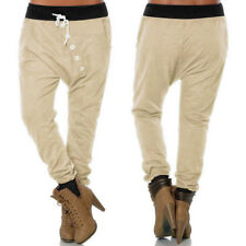 Womens Ladies Casual Jogger Harem Sport Pants Baggy Slacks Trousers Sweatpants