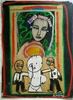 1998 Original Mixed Media Painting by Urban Pop/Street Artist Rascal (US/PR)