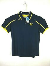 Adidas Climelite Polo Football Blue Yellow Michigan Shirt Nwt Size Xl #A005