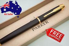 PARKER IM Premium Matte Black with Gold Trim Rollerball Pen-No box