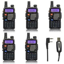 Sale! 5x Baofeng *UV-5R+ Plus* 136-174/400-520 FM 65-108 MHz Ham Two-way Radio