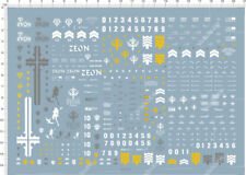 MG 1/100 The 08th MS Team MS-07B-3 Gouf Custom Gundam Model Water Decal 14x21cm