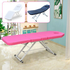 Portable Massage Table 3-Section Beauty Salon Therapy Bed Couch Folding Multi-