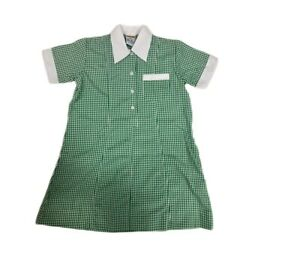 Girls School Dress - Check School Dress - Green