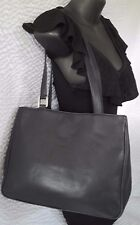 Vintage Balenciaga Paris Navy Blue Leather Handbag