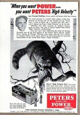 1954 Print Ad Peters 22 Cartridges Packs Power Raccoon Geo Redding Palm Bay,FL