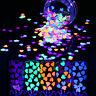 Fluoreszierend Nagel Sequins Nail Art Flakies Nagel Glitter Paillette Nail Art