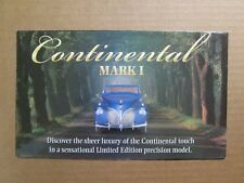 Franklin Mint Brochure 1941 Lincoln Continental Mark I