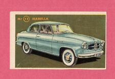 Isabella Vintage 1950s Car Collector Card from Sweden