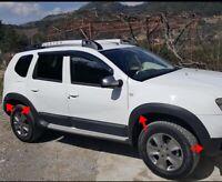 Für Dacia Duster 2010-2017 Kotflügel Abdeckung 8 tlg schwarz