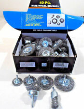 Cal Hawk CZWW40P Wire Wheel Brushes SMALL 40 Pcs Assorted