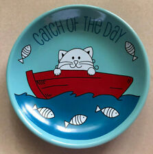 Whisker City Catch of the Day Cat Saucer