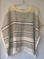 Ann Taylor Loft Ivory Multi Colored Sweater Poncho Size XS/S