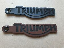 Triumph Motorcycle Leather Keyring. Custom made
