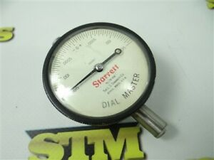 """STARRETT DIAL MASTER DIAL INDICATOR #25-106 .00005"""" GRADS JEWELED MADE IN USA"""