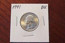1941 Washington Quarter (BU) - Blazing White!