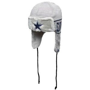 Dallas Cowboys New Era Stripe Trapper Knit Hat - Gray/Navy