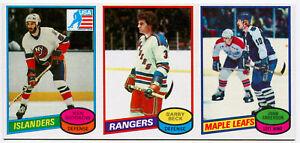 1980-81 Topps KEN MORROW RC BARRY BECK JOHN ANDERSON Vault 1/1 Uncut Sheet Strip
