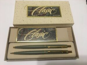 Parker Lady Classic Pen and Pencil in Sage green
