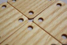 Webbrettchen aus Holz - Esche. 5x5cm. 24 Stück. LARP mittelalter reenactment