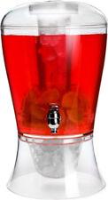 8L DRINKS DISPENSER JUG INFUSER COCKTAIL CHILLER PUNCH WITH TAP SUMMER BEVERAGE