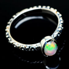 Ethiopian Opal 925 Sterling Silver Ring Size 7.25 Ana Co Jewelry R18527F