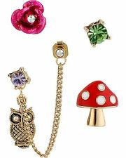 stud set Earrings Msrp $38.00 Nwt Betsey Johnson® Enchanted Forest 5