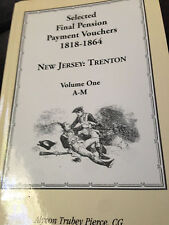 Selected Final Pension Vouchers New Jersey 2 Vol Set Display