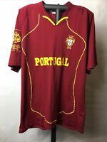 ORIGINAL FIFA World Cup Germany 2006 FPF Portugal Soccer/Futbol Jersey L-XL*