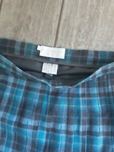 COTSWOLD COLLECTION BLUE TARTAN SKIRT SIZE 22