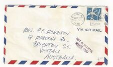 1960 New York to Victoria Australia, Airmail, #C51, Short Paid Not in Air Mail